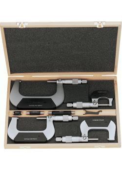 Mikrometrar i set - 0-100 mm - 4 delar