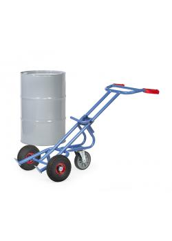 Drum truck - with support wheel - carrying capacity 300 kg