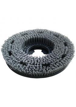 Schleifbürste - Durchmesser 400 mm - Farbe grau - Material Nylonfaser mit Schleifpartikeln