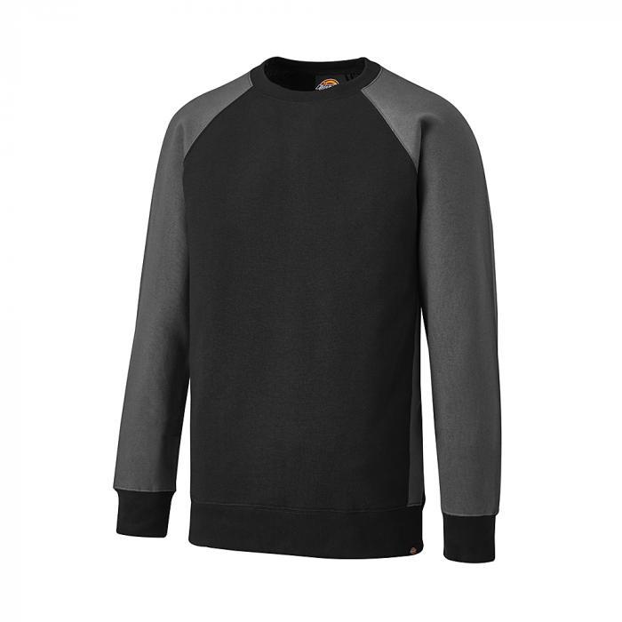 Tvåfärgad tröja - Dickies - storlek S till 4XL - svart / grå