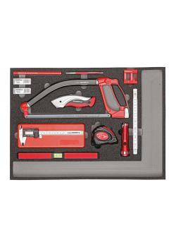 GEDORE röd mät- och skärverktygssats - i 3/3 skummodul - 30 stycken