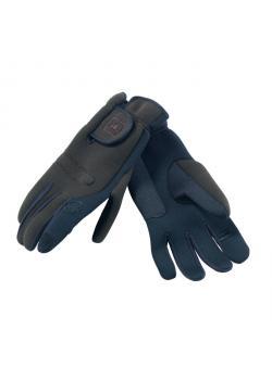 Restposten - Jagd-Handschuhe - Größe XXL - blau - 95% Polyester, 5% Nylon - Neopren - mit Loch für den Schießfinger