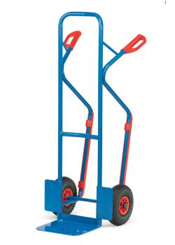 Steel pipe truck - carrying capacity 300 kg - blue RAL 5007