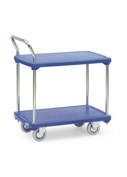 Plastic plate car - to 200 kg - with 2 shelves