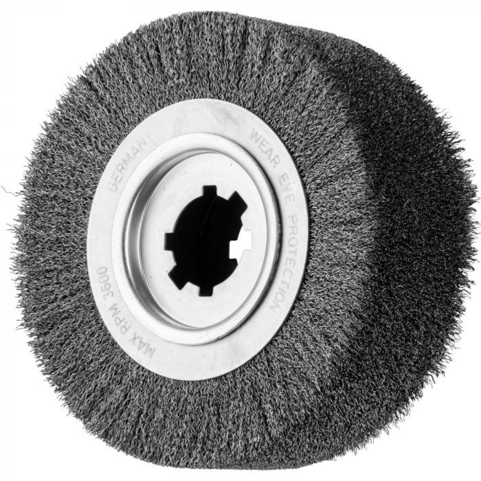 PFERD Rundbürste RBU - ungezopft - Stahldraht - Außen-ø 250 mm - Besatzbreite 80 und 100 mm - Bohrungs-ø 50,8 mm - Besatzmaterial-ø 0,35 und 0,50 mm