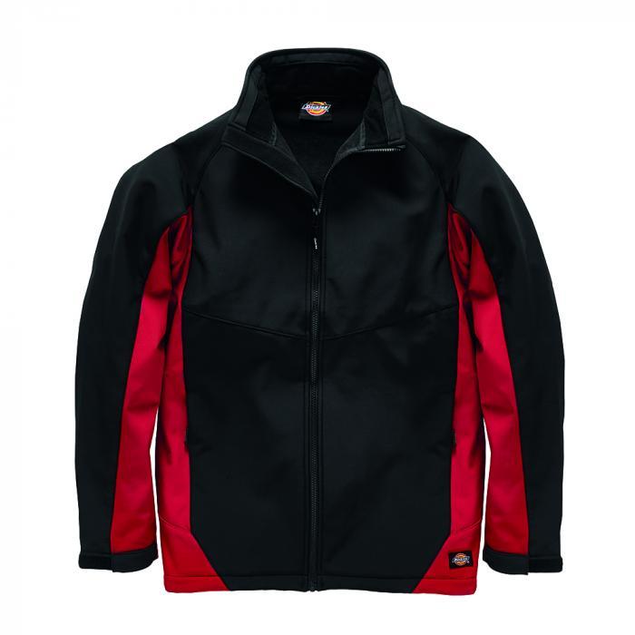 Maywood softshelljacka - Dickies - storlekar S till 4XL - svart / röd