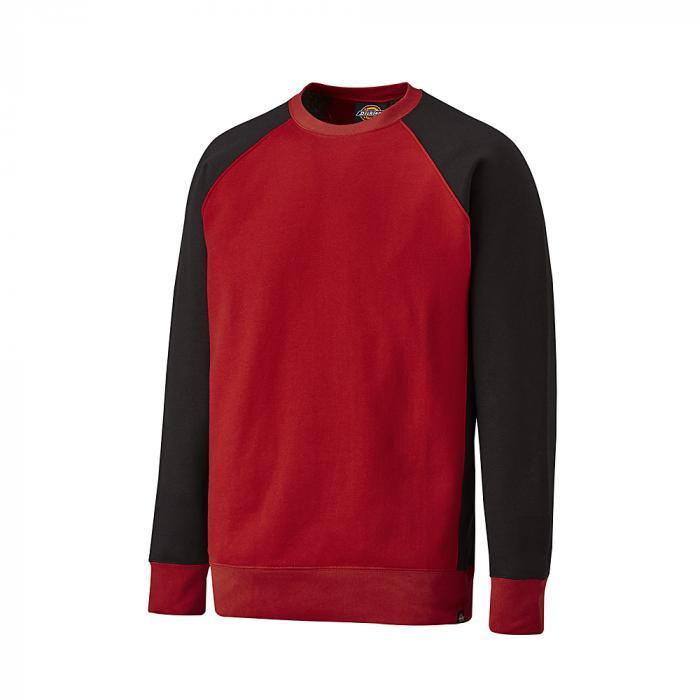 Tvåfärgad tröja - Dickies - storlek S till 4XL - röd / svart