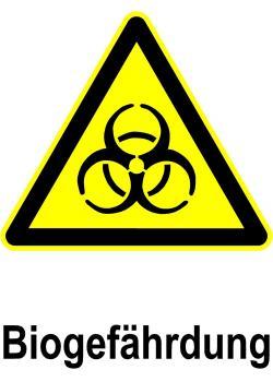 """Varningsskylt """"biologisk fara"""" - sidolängd 20x30cm / 30x45cm"""
