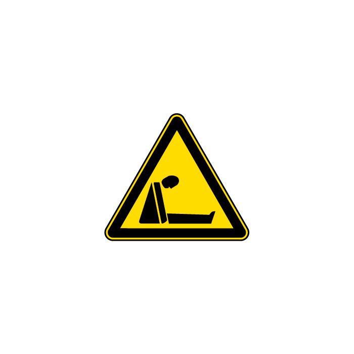 """Warnzeichen """"Warnung vor Ersticken durch Sauerstoffmangel"""" - Schenkellänge 5-40"""