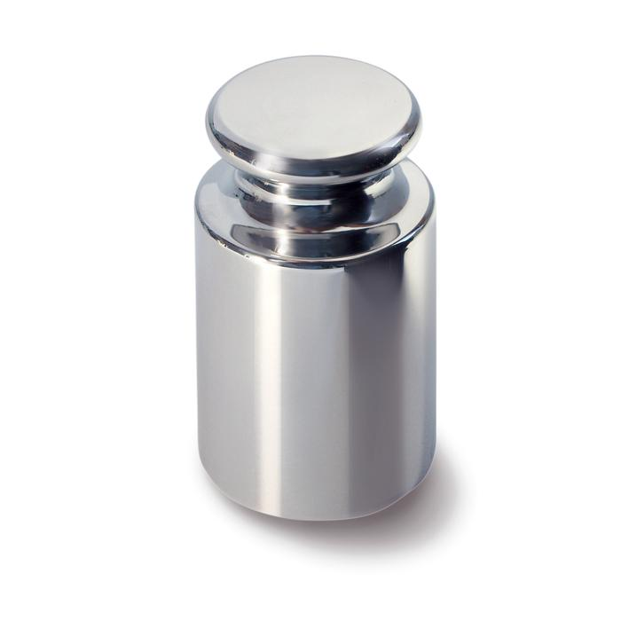 Peso di calibrazione E2 - da 1 g a 50 kg - con bottone di presa - in acciaio inossidabile