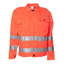 Restposten - Bundjacke - Gr. 56 - orange/marine - EN26330 - 85 % PES - 15 % CO