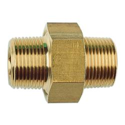 Nipple double DNL-MS-R1 / 2a x R1 / 2a - Joint conique en laiton, démontable\n