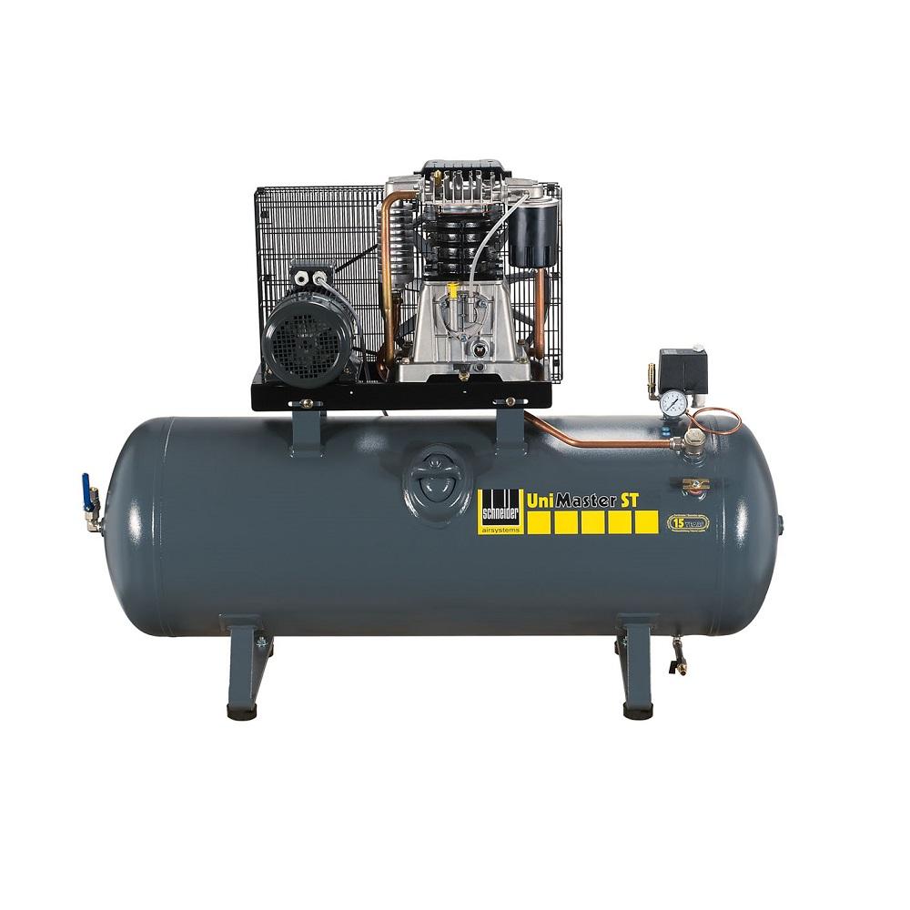 Schneider UNM STL - Kompressor - 10 bar oder 15 bar - 2-Zylinder-Aggregat mit zweistufiger Verdichtung