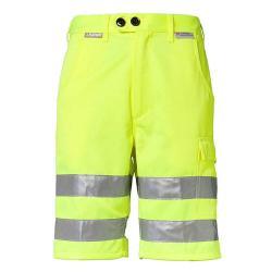 Restposten - Shorts - Gr. S - gelb - EN 26330 - 85 % PES - 15 % CO - m. Hightech-Reflexstreifen