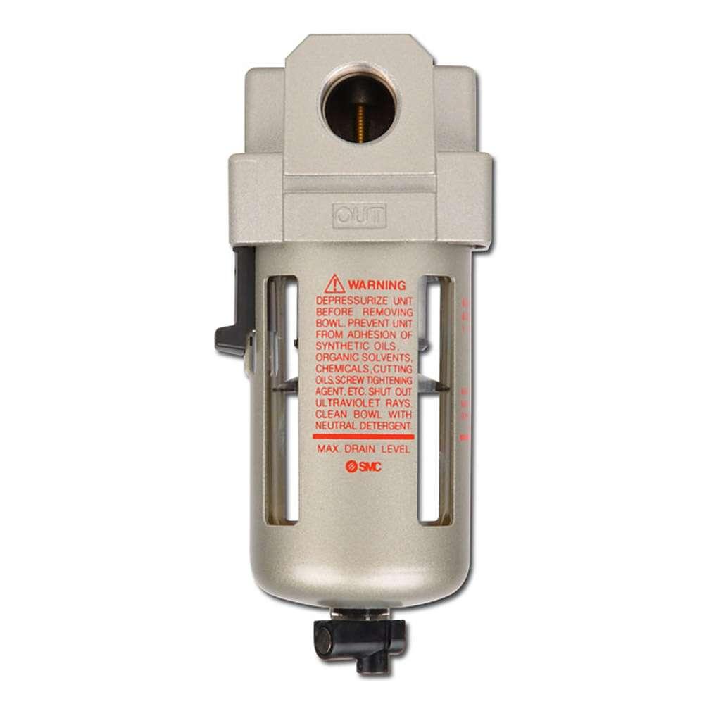 SMC Feinfilter 5µm - 10 bar - bis 13800l/min - man. Kondensatablass