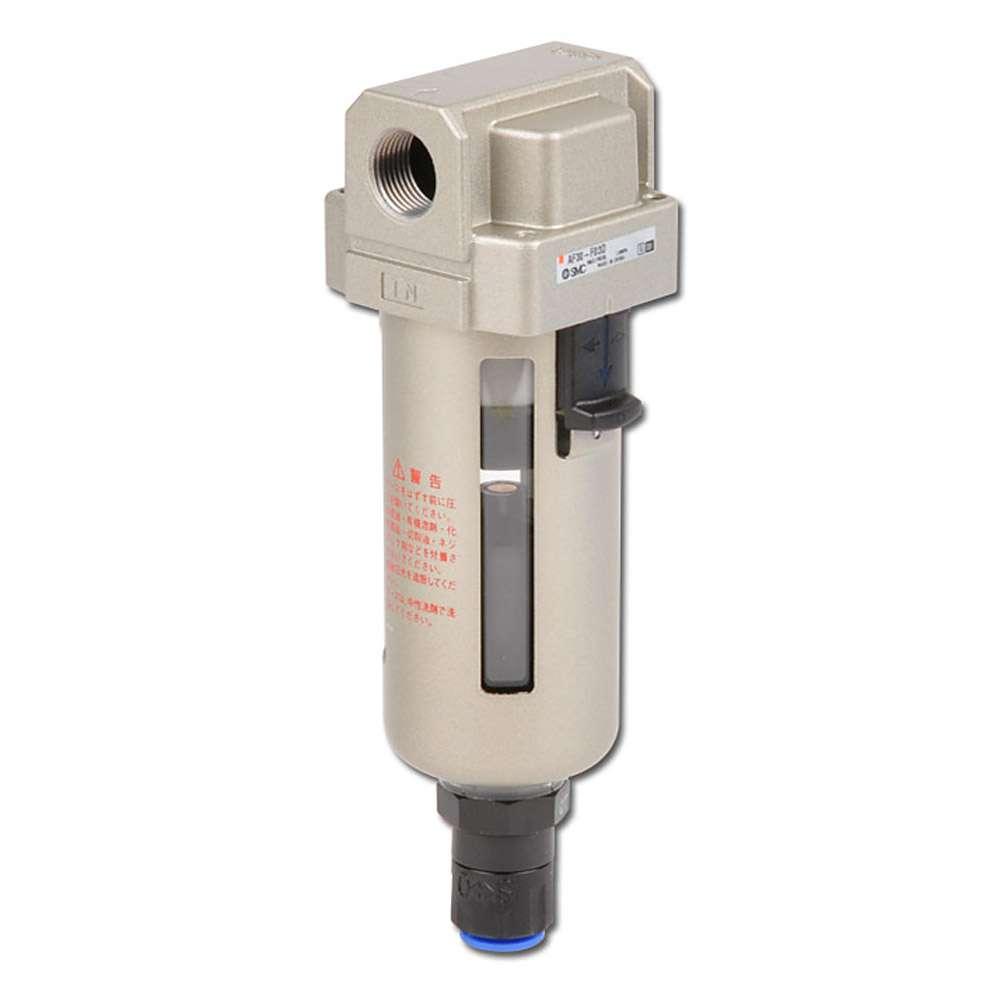 SMC Feinfilter 5µm - 10 bar - bis 13800l/min - autom. Kondensatablass