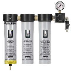 SATA filter 103 prep - Filtertechnik - 3-stufiger Sinterfilter / Feinfilter / Aktivkohlefilter mit Druckregler und Abgangshahn (1 x G 1/4 a) - für den Vorbereitungsraum