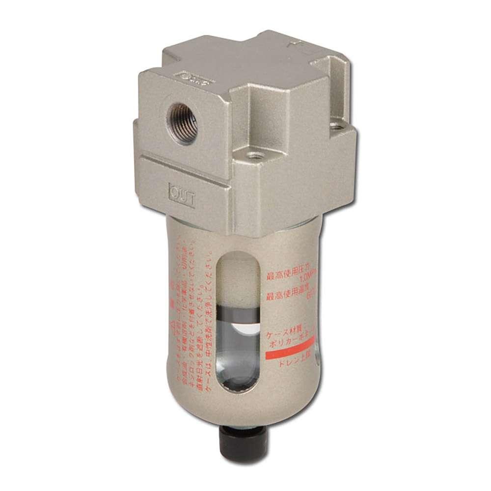 SMC Mikrofilter 0,3 µm - 10 bar - bis 1080l/min - man. Kondensatablass