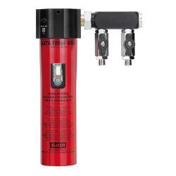 """SATA filter 464 - Filtertechnik - 1-stufiger Aktivkohlerfilter mit Abgangsmodul (2 x 1/4"""" Außengewinde)"""