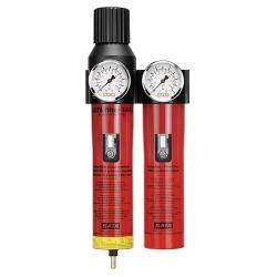 """SATA filter 444 L - Filtertechnik - 2-stufiger Sinterfilter/Feinfilter mit Druckregler (G 1/2"""" Innengewinde) - für Leitungseinbau"""