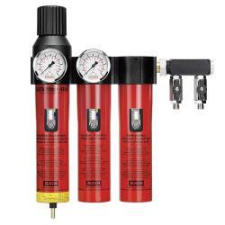 """SATA filter 484 - Filtertechnik - 3-stufiger Sinterfilter/Feinfilter/Aktivkohle mit Druckregeler und Abgangsmodul (2 x 1/4"""" Außengewinde)"""
