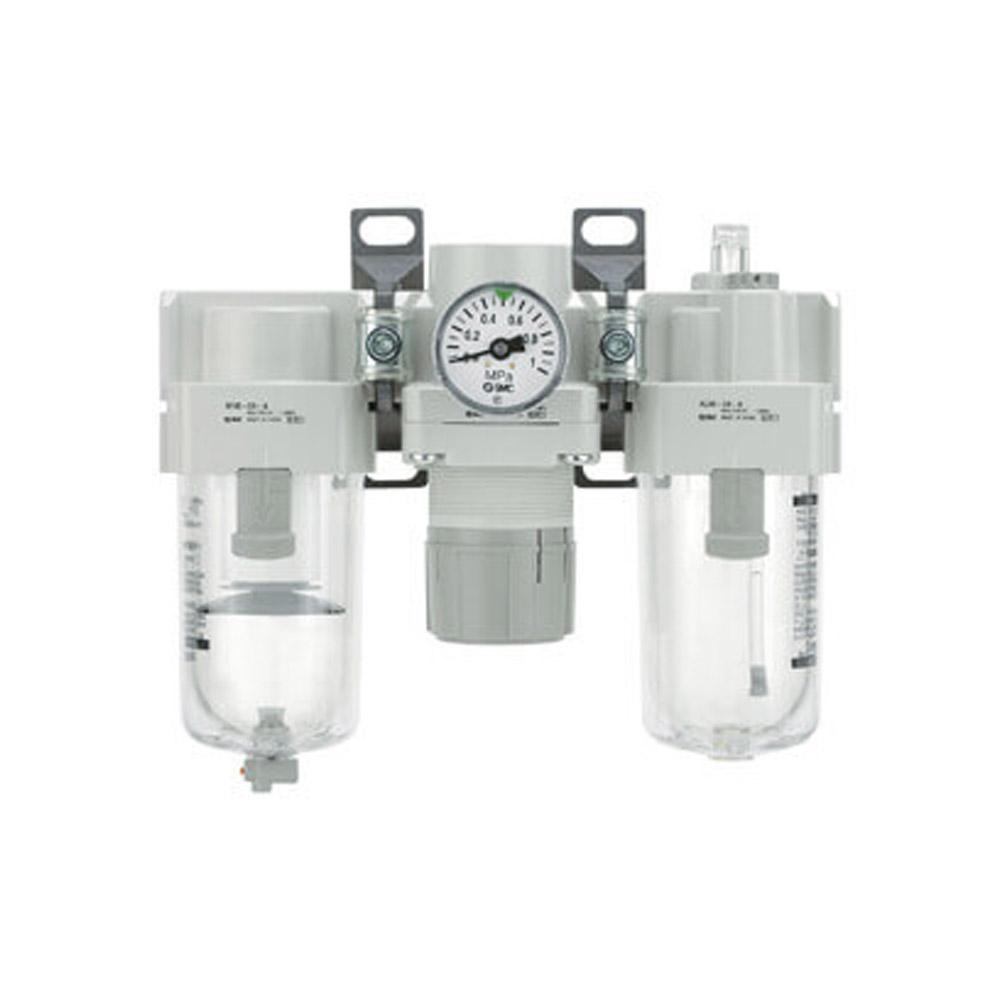 SMC Filterregle - 8,5bar 5µm + Tropfenöler auto. Kondensatablass