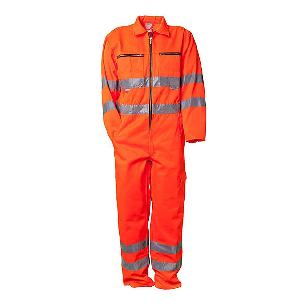 Warnschutz-Rallyekombi - 85% Polyester/ 15% Baumwolle - orange/marine