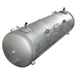 Remainders - compressed air tank 750 l - 12 bar - lying - Ø 650 mm - Total length about 2405 mm