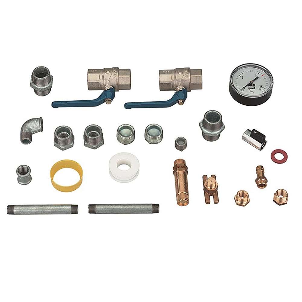 """Schneider AMS-B-H - Armaturensatz - 2 x 1""""i - für liegende Druckluftbehälter"""