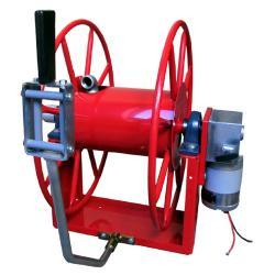 """Schlauchaufroller """"MGLE 240F"""" - ohne Schlauch - mit Elektromotor 230/400V AC, 750 W, 1,6A, 27 U/min"""