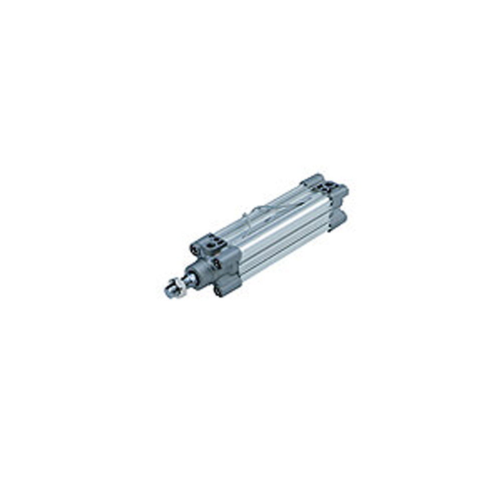 Pneumatikzylinder doppeltwirkend - ISO 6431 - verstellbare Endlagendämpfung - mit integrierten Zugstangen\n