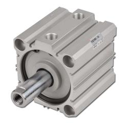 Compact Cylinders - Double Acting - 10 Bar - Without Magnetic Ring - SMC - Serie