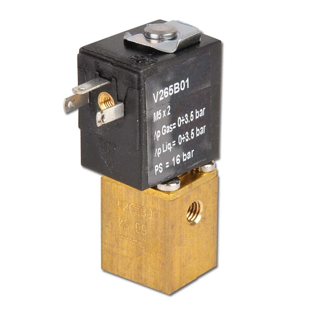 Électrovanne 2/2 - normalement ouverte - pour air comprimé, eau et huile - 10 bar - M5