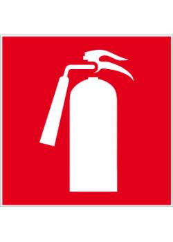 "Brandskylt ""brandsläckare"" - sidolängd 5-40 cm"