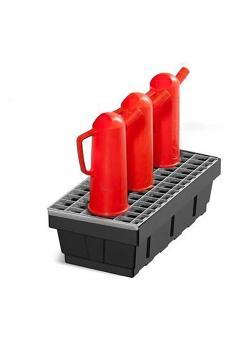 Kleingebindewanne EURO-P 7 - Polyethylen (PE) - mit Stahl-Gitterrost - 7 Liter Auffangvolumen