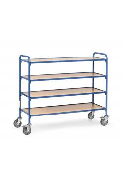 Trolley - with trays or boxes - length 1250 mm