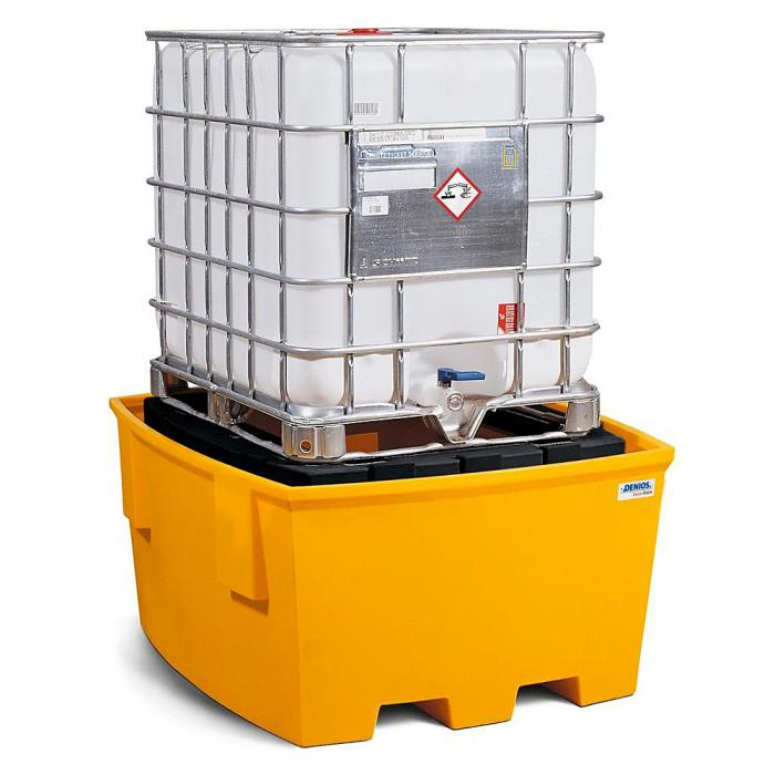 Auffangwanne base-line - Polyethylen (PE) - für 1 IBC - mit PE-Lagerbock/Abfüllbereich