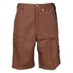 Shorts - 320 g/m² - 35/65% blandväv - stl. S - brun/svart - Planam