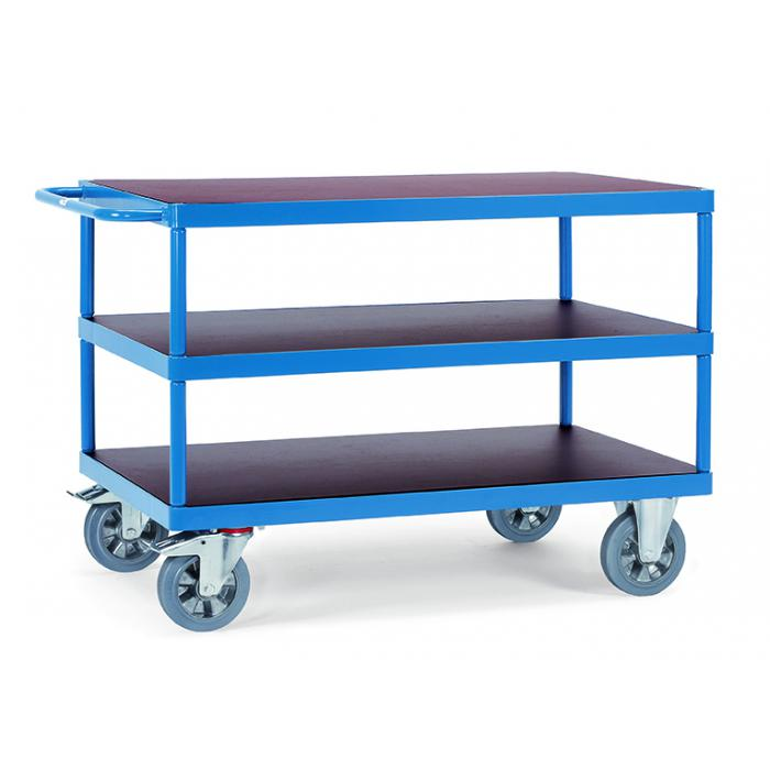 Table trolley - with 3 floors of wood - 1200 kg
