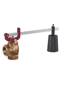Série 601 - limiteur de pression - bronze - avec levier et poids - forme d'angle avec raccords filetés - DN 15 à DN 50 - versions différentes