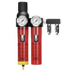 """SATA filter 444 - Filtertechnik - 2-stufiger Sinterfilter/Feinfilter mit Druckregler und Abgangsmodul (2 x 1/4"""" Außengewinde)"""