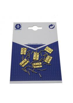 Casket hinge - brass - incl. Nails - 30 pieces