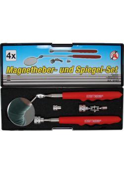 Magnetheber- und Spiegel-Satz - Griffe ergonomisch geformt - 4-tlg.