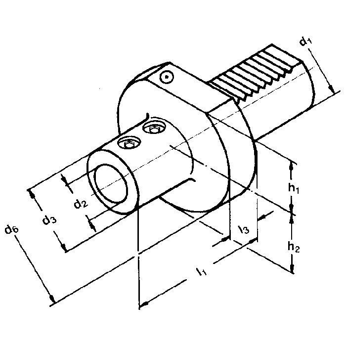 VDI verktygshållare - DIN 69880 - Form E1 20 x 10 till 50 x 50