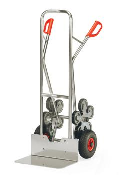 Aluminium stairclimber - to 200 kg - five-armed wheel star - wide blade