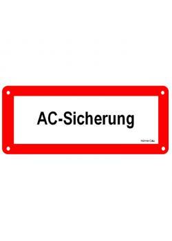 """Hinweisschild für Photovoltaik-Anlage - """"AC-Sicherung"""""""