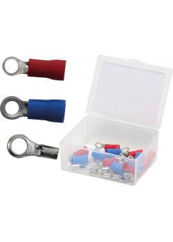 Kabelschuh-Sortiment - in Kunststoffbox - 30-tlg.