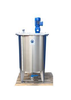Rührwerksbehälter Typ CILC500RWS - mit Getrieberührwerk SRTGMK/0,75-190 - Edelstahl - 510 l - Behälter Ø 790 mm - einwandig