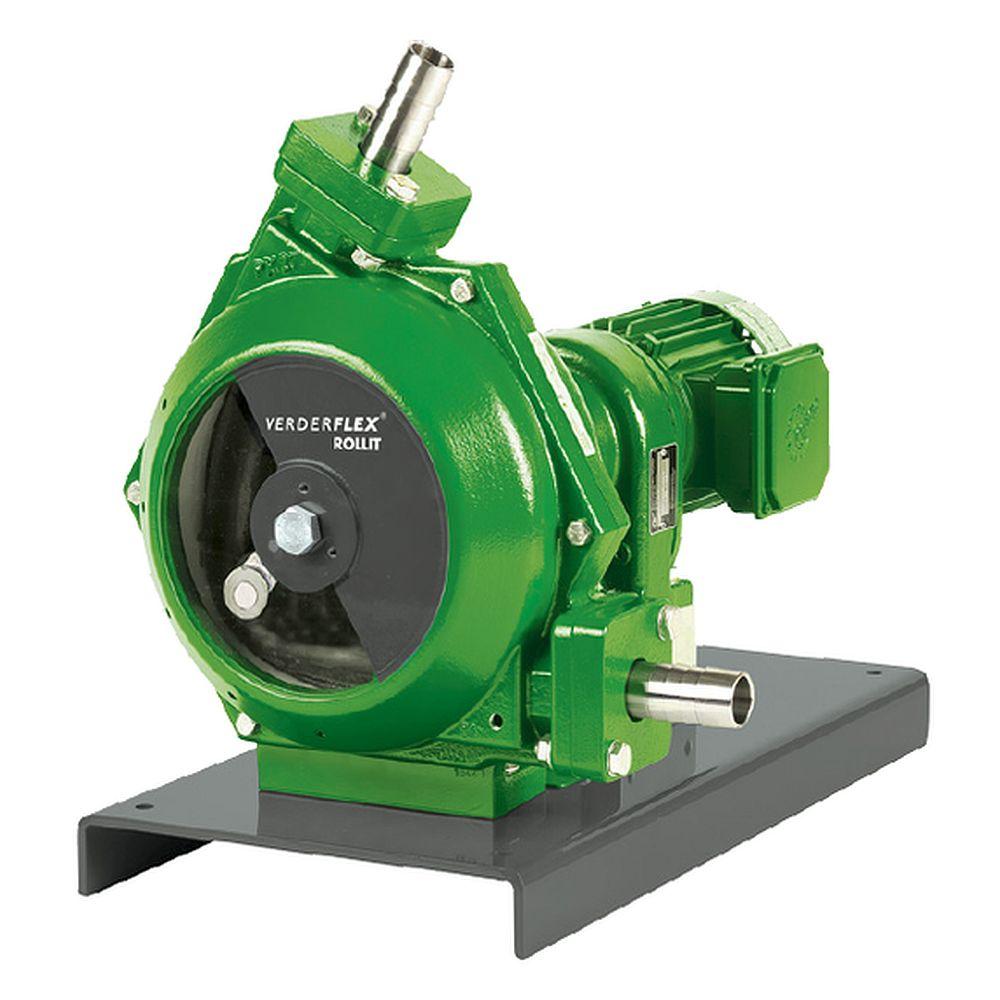 Industrislangpump Verderflex Rollit25 - max. 2 bar - max. 0,37 kW - max. 2200 l / h - olika slangar