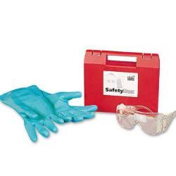 Safety Box - Panoramaschutzbrille und Schutzhandschuhe - Material Nitril